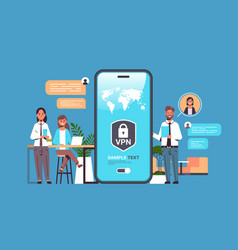 businesspeople using virtual private network vpn vector image