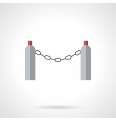 Chain fence flat color icon vector image