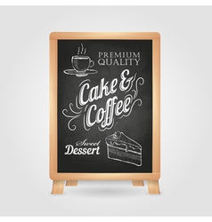 Chalk drawings Retro typography Cake vector