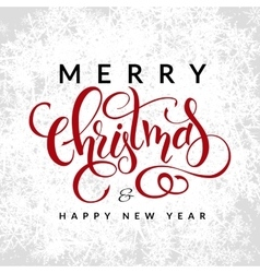 christmas greetings card with lettering vector image
