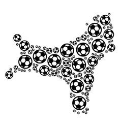 Christmas island map mosaic of football spheres vector