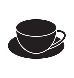 Coffee cup flat icons for apps and websites vector