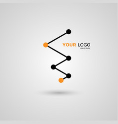 connect abstract design vector image