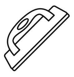Construct wood tool icon outline style vector