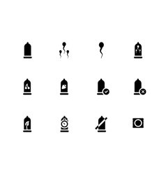 Contraception and sperm icons on white background vector