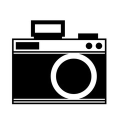 cute black icon camera cartoon vector image