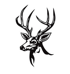 deer stylized drawing vector image