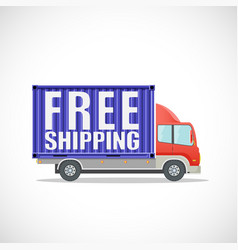 delivery truck with text free shipping vector image