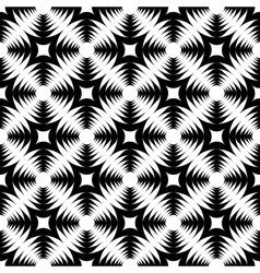 Design seamless monochrome geometric cross pattern vector