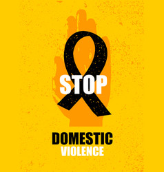 Domestic violence pop art banner on yellow vector