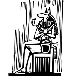 Egyptian Sitting Anubis vector