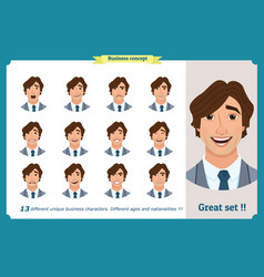 face expressions of a businessman vector image