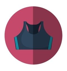 Female sport clothes icon vector