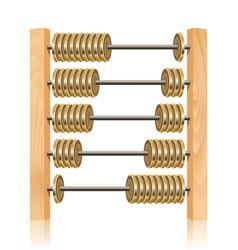 Financial abacus vector