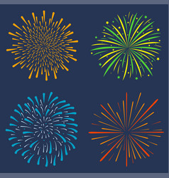 firework set vector image