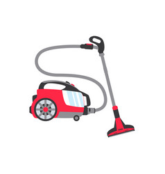 Flat electronic vacuum cleaner icon vector