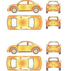 futuristic mini car vector image
