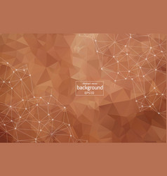 geometric dark brown polygonal background vector image