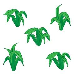 green floral cartoon vector image
