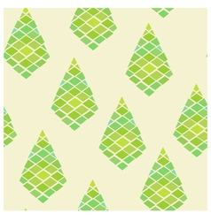 Green geometric abstract seamless pattern vector image