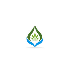 green leaf eco nature bio logo vector image