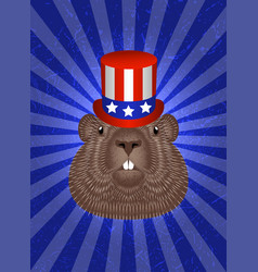 Groundhog day concept national holiday in usa vector