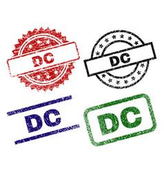 grunge textured dc stamp seals vector image