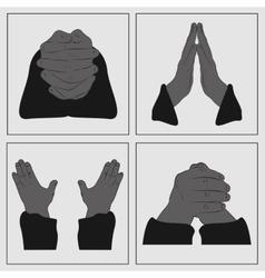 Hands in prayer vector