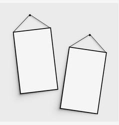 hanging photo canvas with shadow vector image