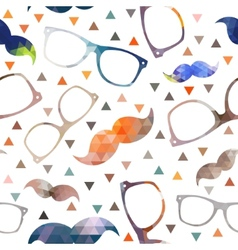 Hipster symbols background Pattern for fabric vector image