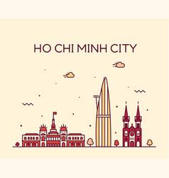 ho chi minh city saigon skyline vietnam vector image