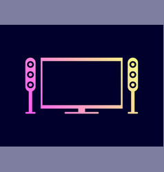 home theater icon vector image