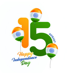 Indian independence day celebrations with stylish vector