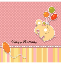 Its a baby girl announcement card vector