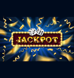 jackpot sign with dice vector image