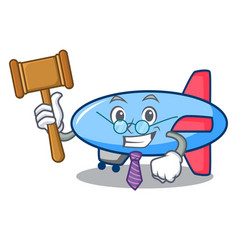 Judge zeppelin mascot cartoon style vector