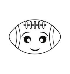 Kawaii american football ball vector