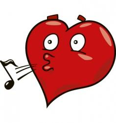laidback heart vector image