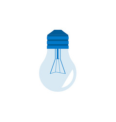 light bulb turned off in vector image