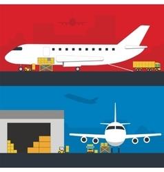 Logistics infographic banner set Flat vector image