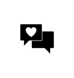 love chat solid icon heart in speech vector image