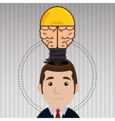 man with ideas isolated icon design vector image
