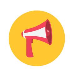 megaphone speaker loudspeaker round icon vector image