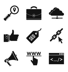 Mobile usage icons set simple style vector