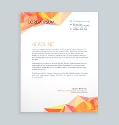 Modern business letterhead vector