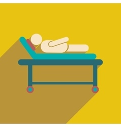 Modern flat icon with long shadow patient in vector