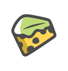 Mold cheese green icon cartoon vector