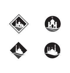 Mosque moslem icon vector