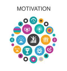 Motivation infographic circle concept smart ui vector