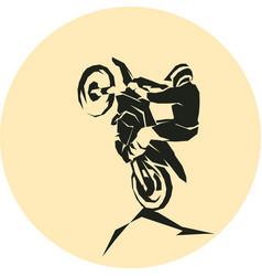 motocross enduro background vector image